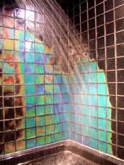 Awesome Color Changing Bathroom Tiles Like Taking A Shower Inside