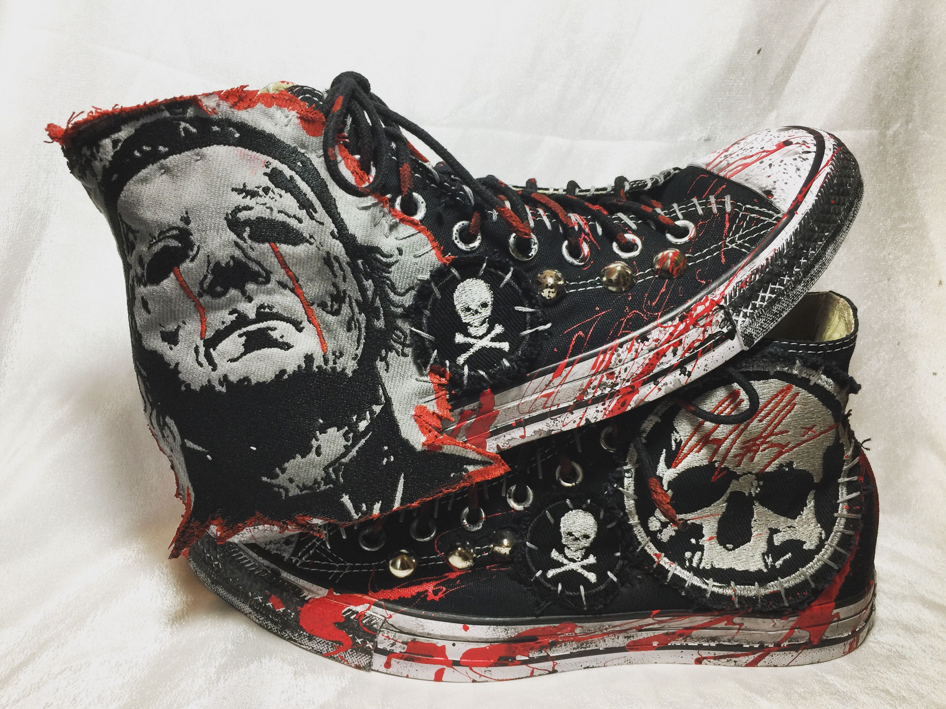 Blood of The Shape shoes. All Star Chuck Taylor Hi Top
