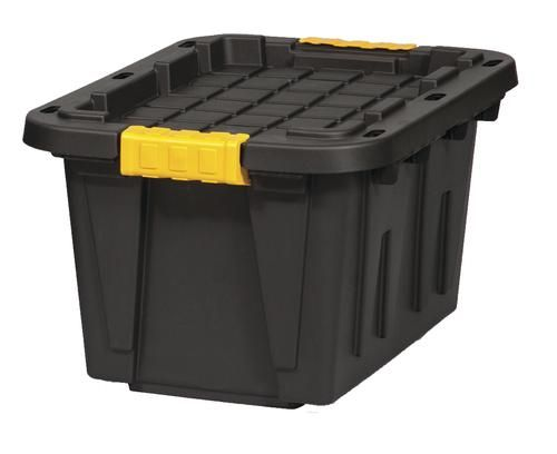 Centrex Plastics Tough Box 12 Gallon Black Storage Tote At