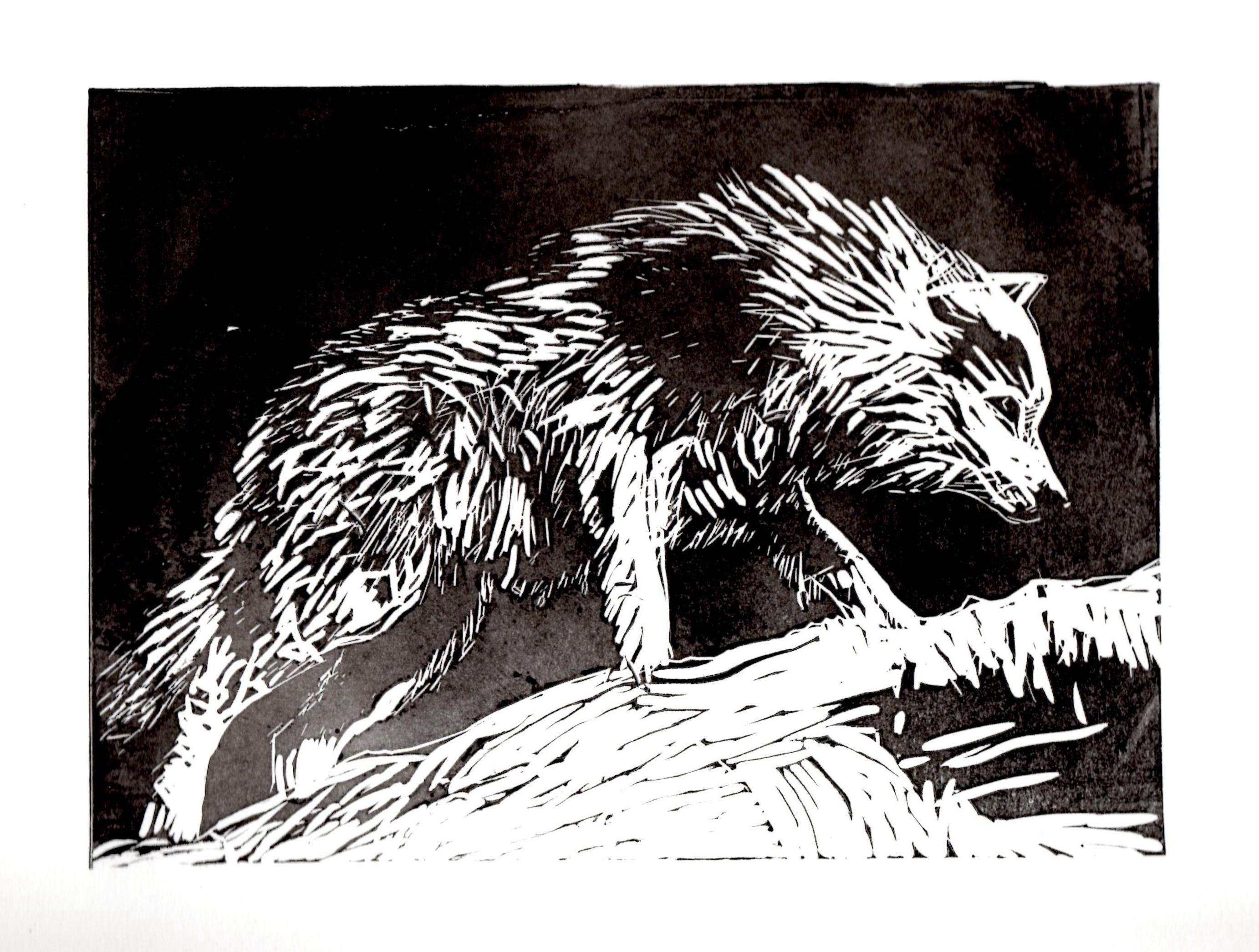 Гравюры картинки с волком