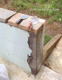The Kim Six Fix Masonry 101 How To Repair A Concrete Cinder Block Wall Cinder Block Walls Modern Fence Backyard Fences