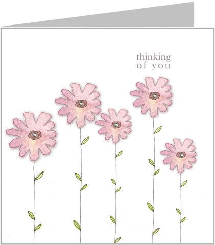 Thinking of You - Pink daisies – valerie valerie stationery