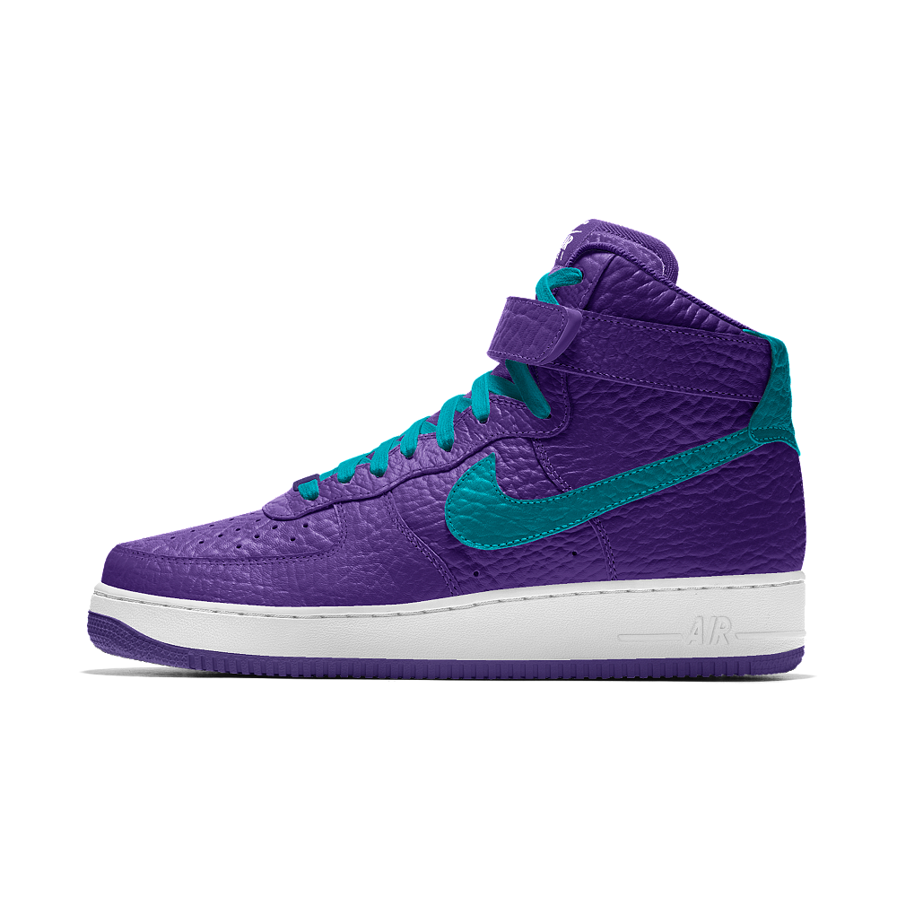 size 40 67e8a d219f Nike Air Force 1 High Premium iD (Charlotte Hornets) Men s Shoe Size 11.5  (Purple)