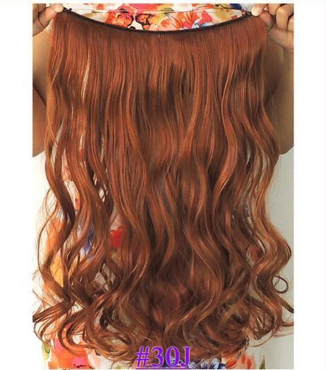 New Color Copper Red 30j Halo Hair Extensions 22 Holiday Hair