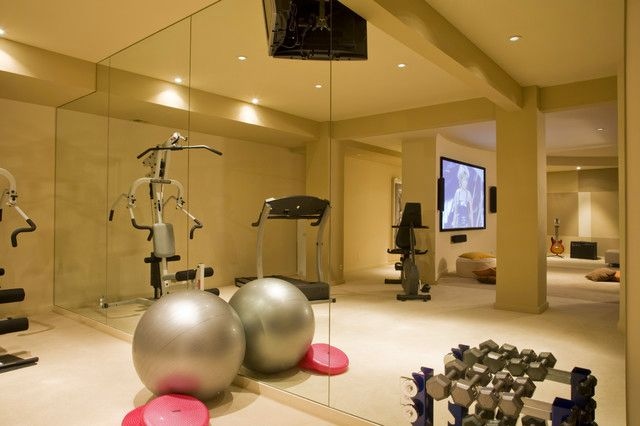 Modern Home GYM U0026 Fitness Studio Design   Basement