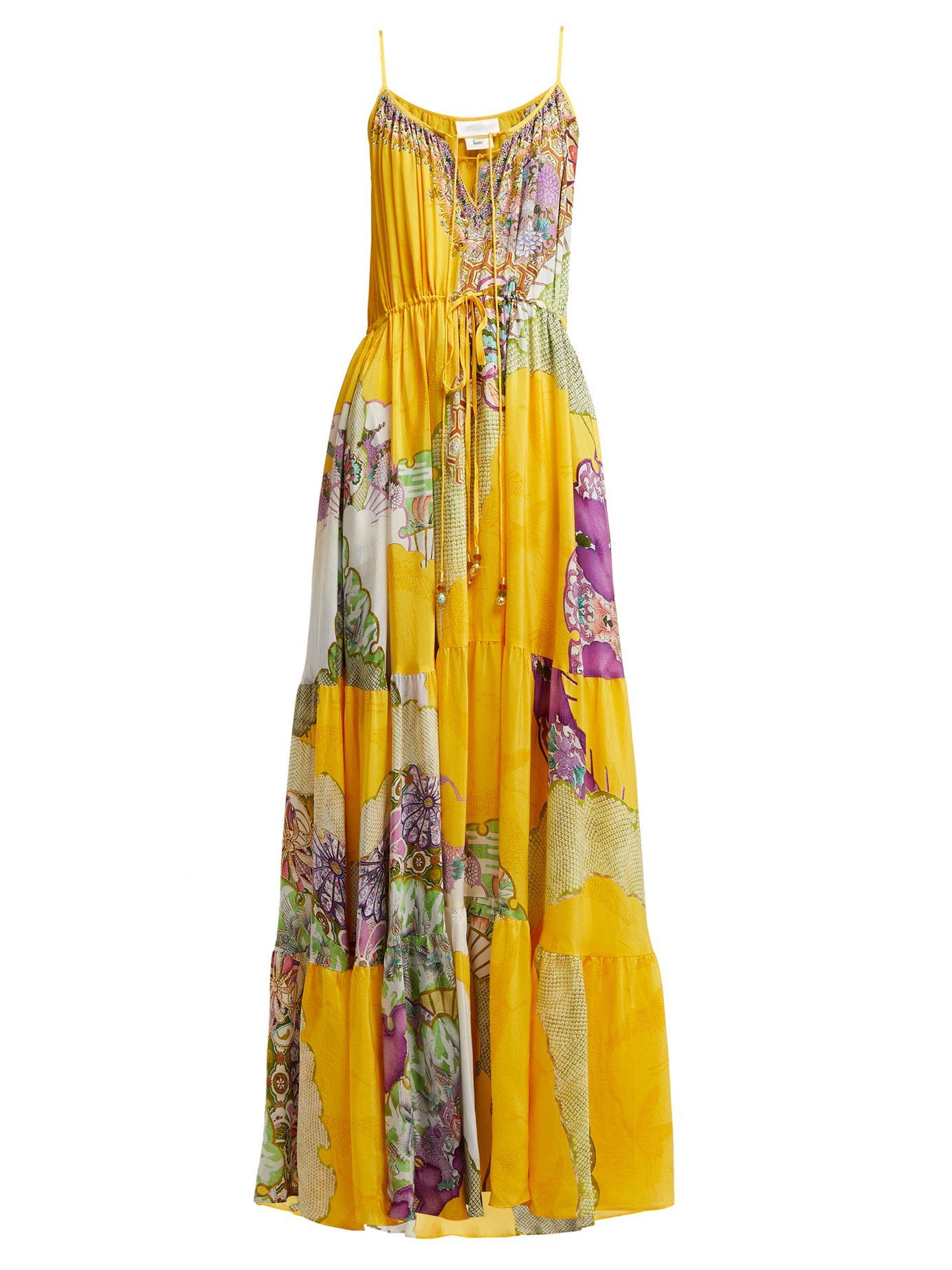 8f6039e69fc0d9 Golden Years silk maxi dress | Camilla | MATCHESFASHION.COM ...