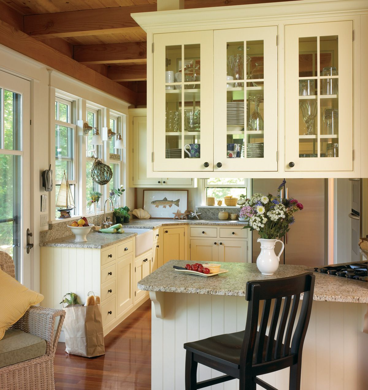 French Country Kitchen Cabinets A French Country Kitchen With An - Kitchen country design