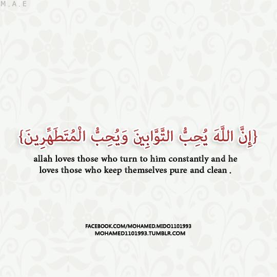 إن الله يحب التوابين ويحب المتطهرين Allah Love Quran Wallpaper Backgrounds