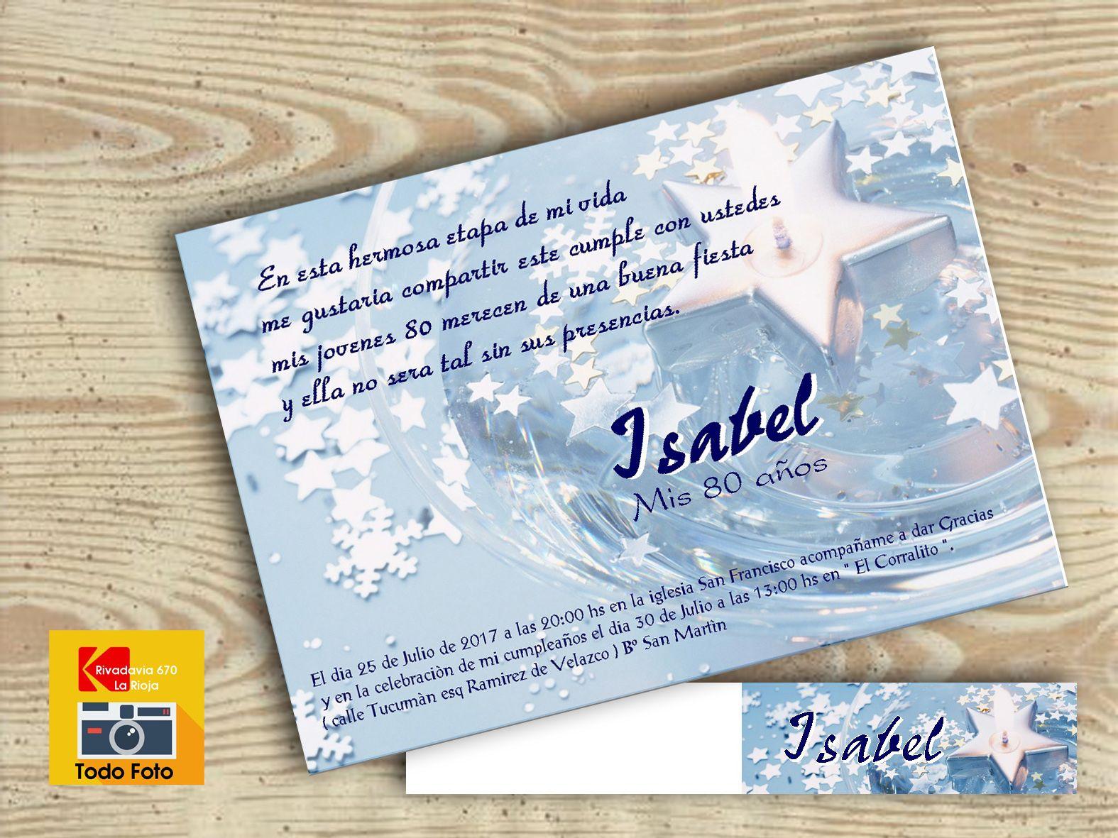 48105a0df6c6 tarjeta para quince años y tarjeta para souvenir estrella ...