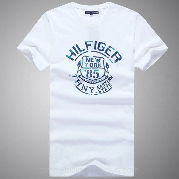 d6ea6c5ac821 Eastern State Tommy Hilfiger New York 85 Mens Short Sleeved T Shirt White