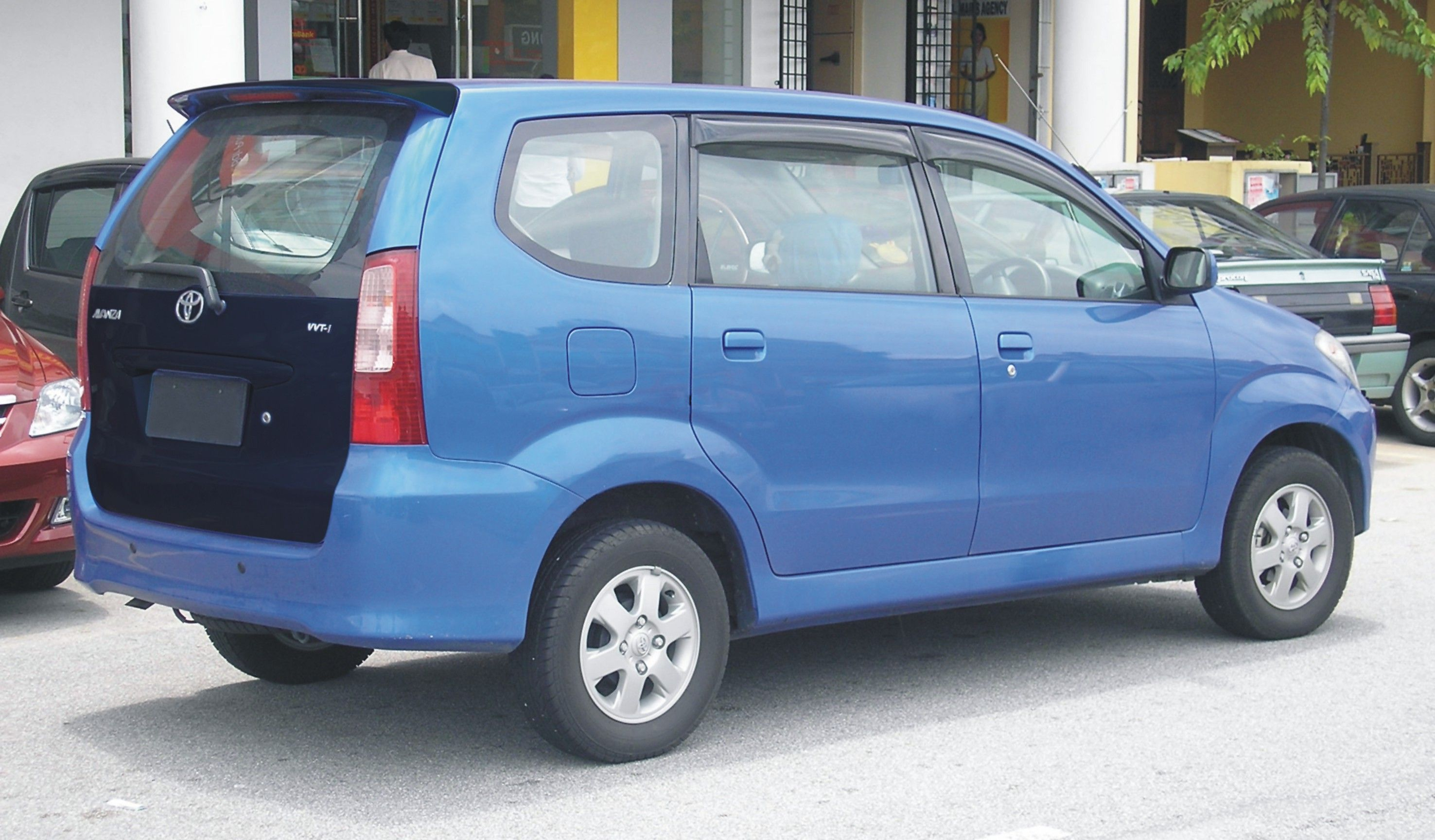 Cutting Sticker Grand New Avanza Foto All Alphard Toyota Blue Black Mate Back Door Wrapping Concept