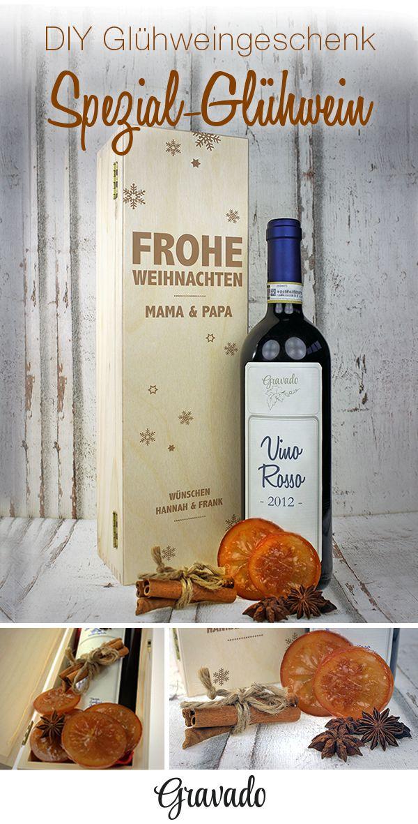 Weinkiste zu Weihnachten mit Gravur - Personalisiert | WEIHNACHTEN ...