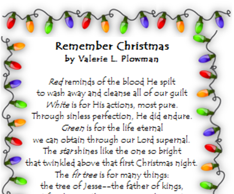 This Is A Poem I Wrote Last Week For The Symbols Of Christmas Last