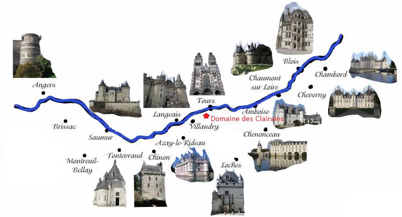 carte des chateau de la loire carte chateaux de la loire | Chateau de la loire, Loire, Chateau