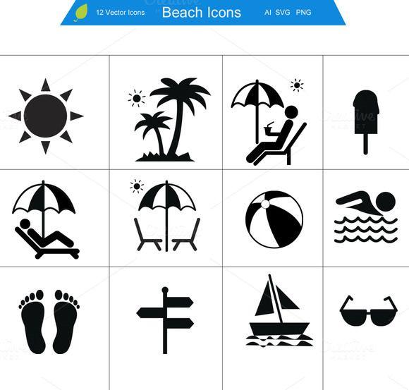 Beach Icons Beach Icon Icon Web Design Icon