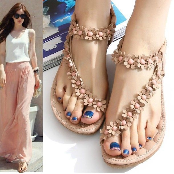 Top 50 Best Selling Women Fashion Shoes In 2020 Floral Flat Shoes Beaded Sandals Shoes