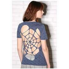 Spider web back design.
