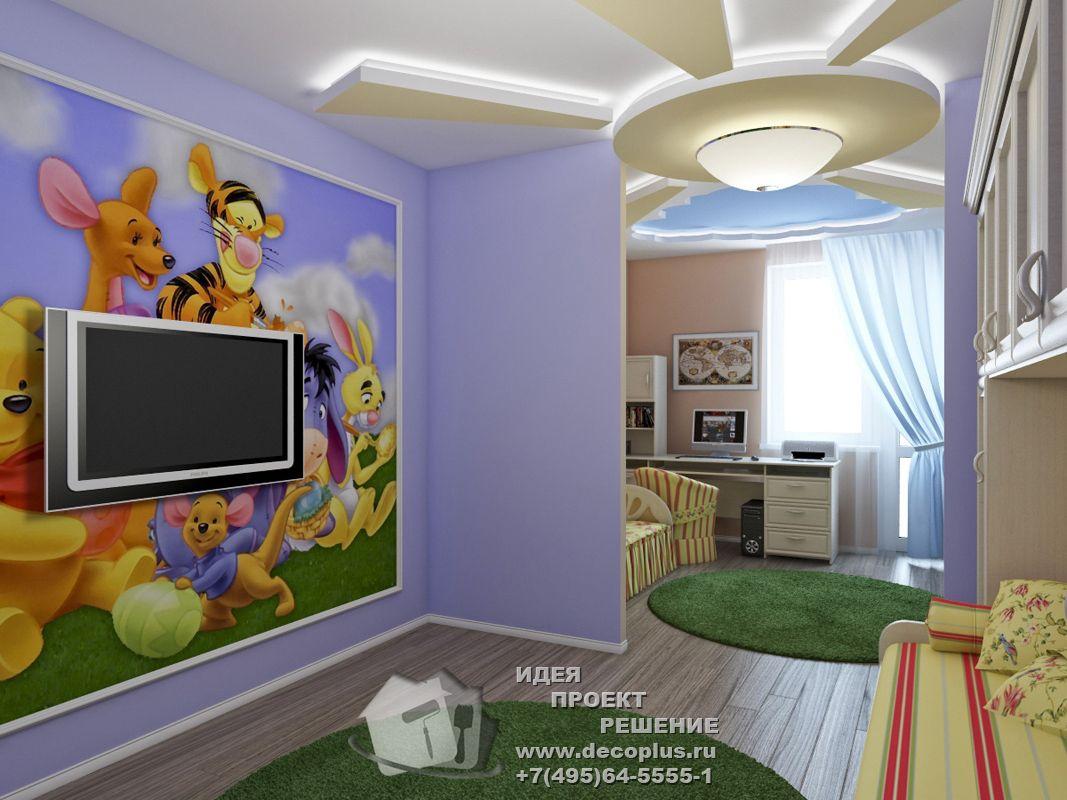 Дизайн детской комнаты для девочки и мальчика 115