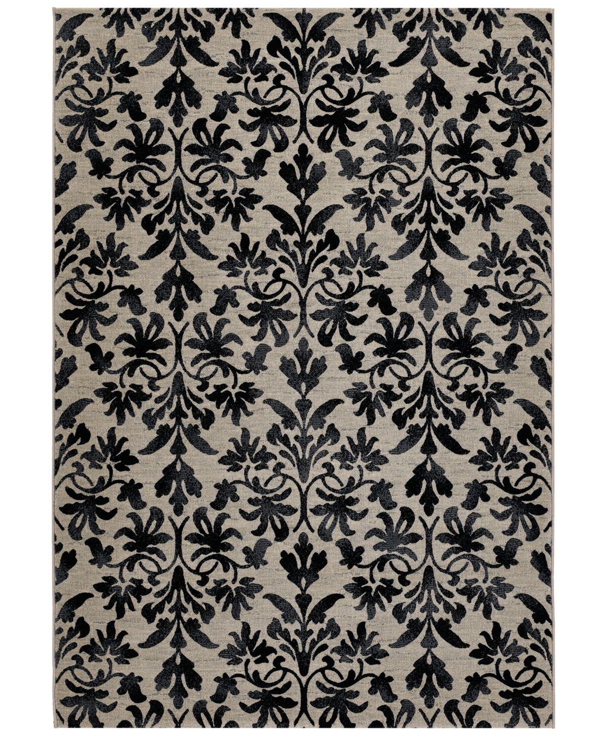 Couristan Taylor Retro Damask Grey Black 7 10 X 11 2 Area Rug Reviews Rugs Macy S Area Rugs Damask Patterned Carpet
