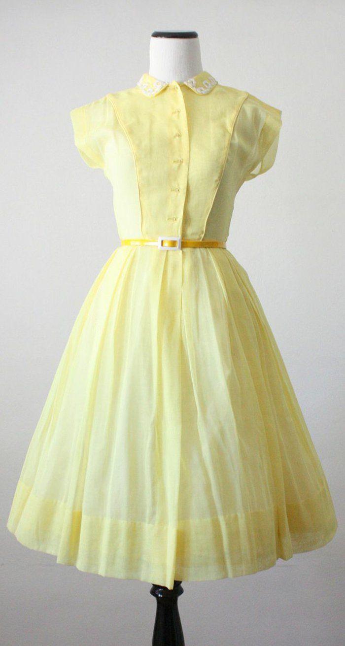 Gelbes Kleid oder Accessories als super aktueller Trend | Gelbes ...