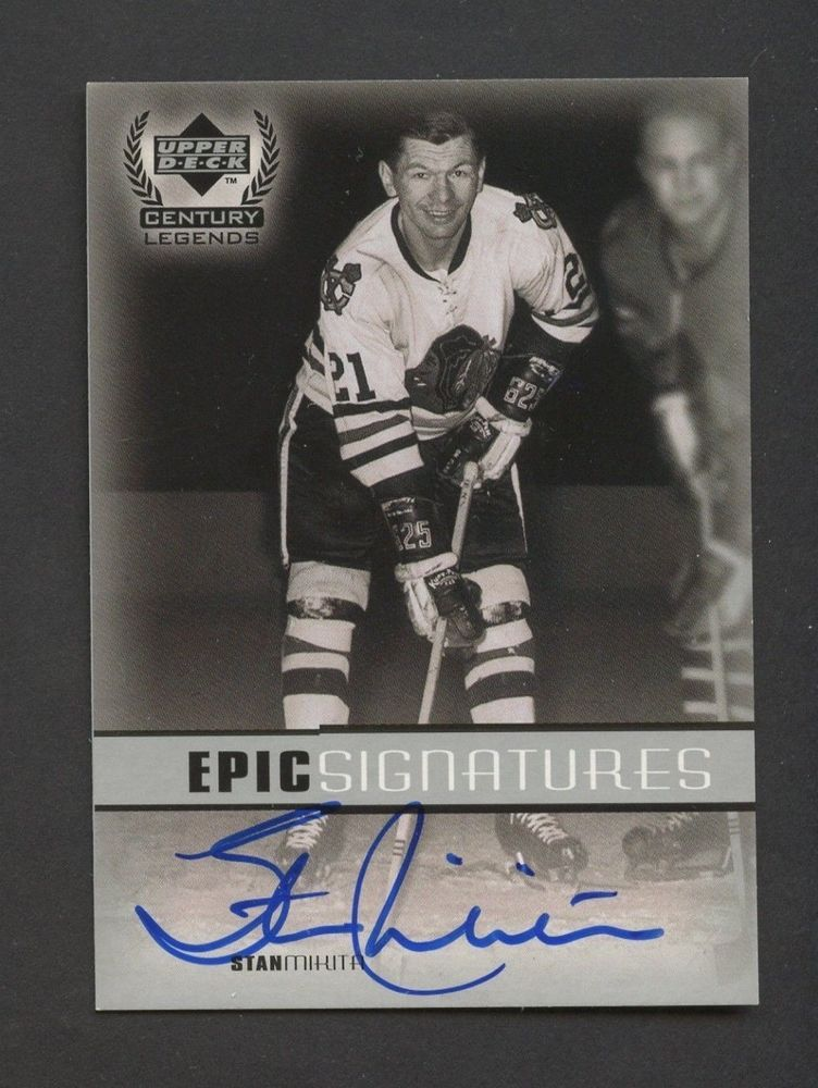 41149a4a9f4 1999 Upper Deck Epic Signatures Stan Mikita Signed AUTO Chicago Blackhawks