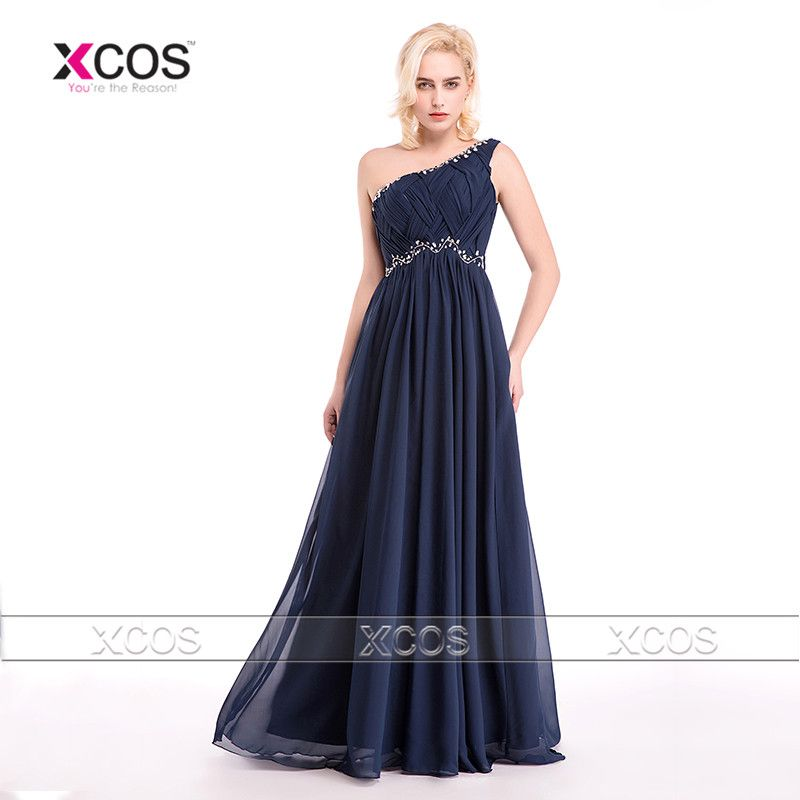 Find More Bridesmaid Dresses Information about Modest Junior Navy ...