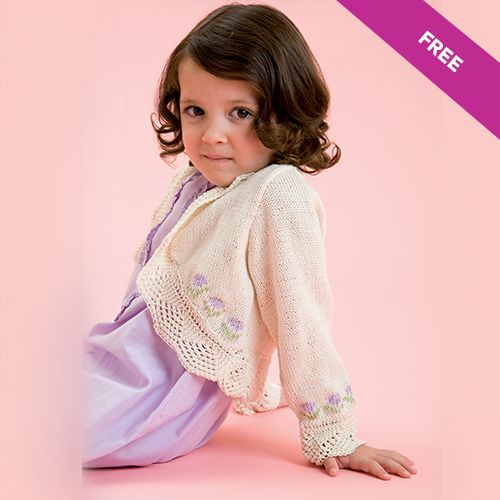 Free Knitting Pattern Kids Floral Cardigan By Patons Makeitcoats