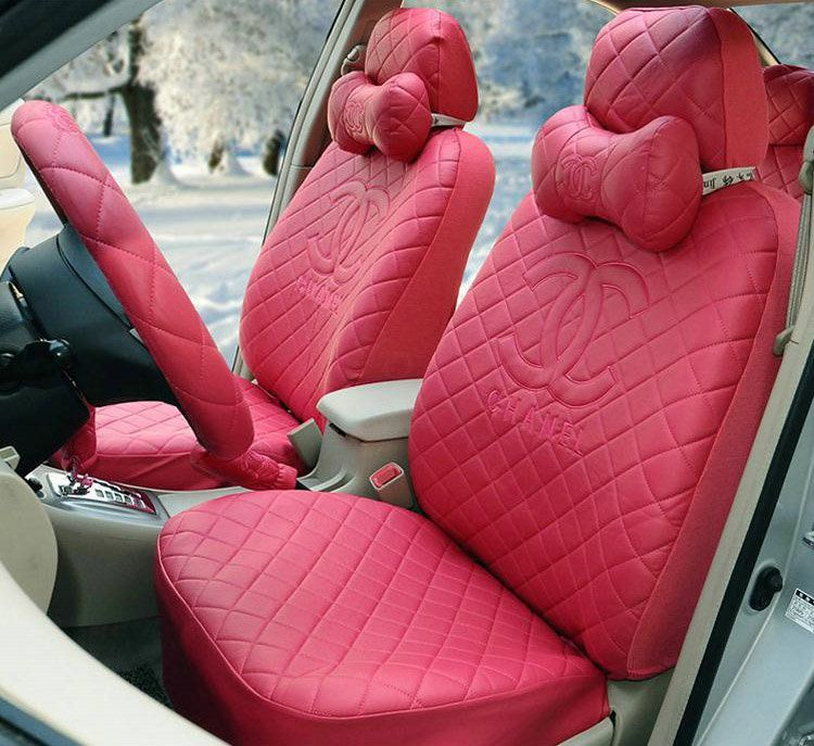 Buy Wholesale Luxury Chanel Universal Automobile Leather Car Seat Cover 18pcs Sets