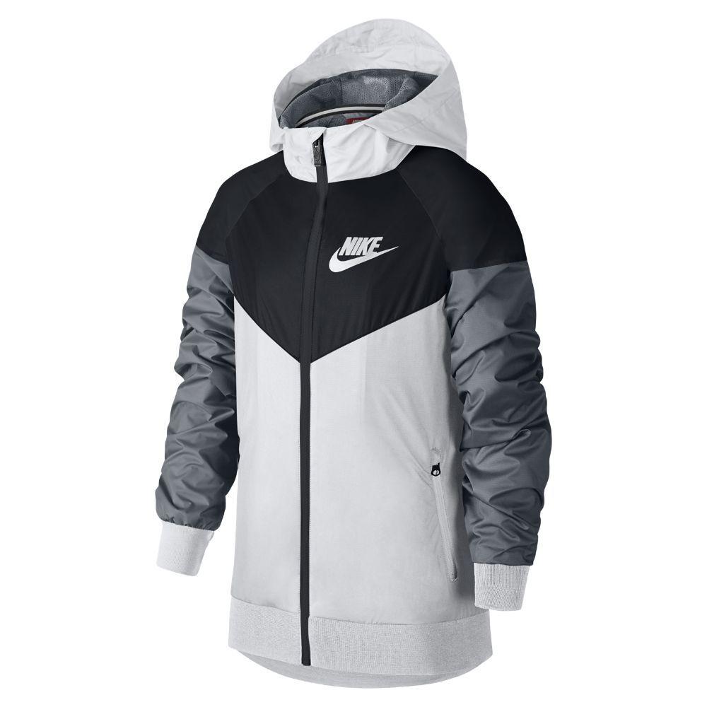a53a0dc13f3a2 Nike Sportswear Windrunner Big Kids' (Boys') Jacket Size Medium (White)