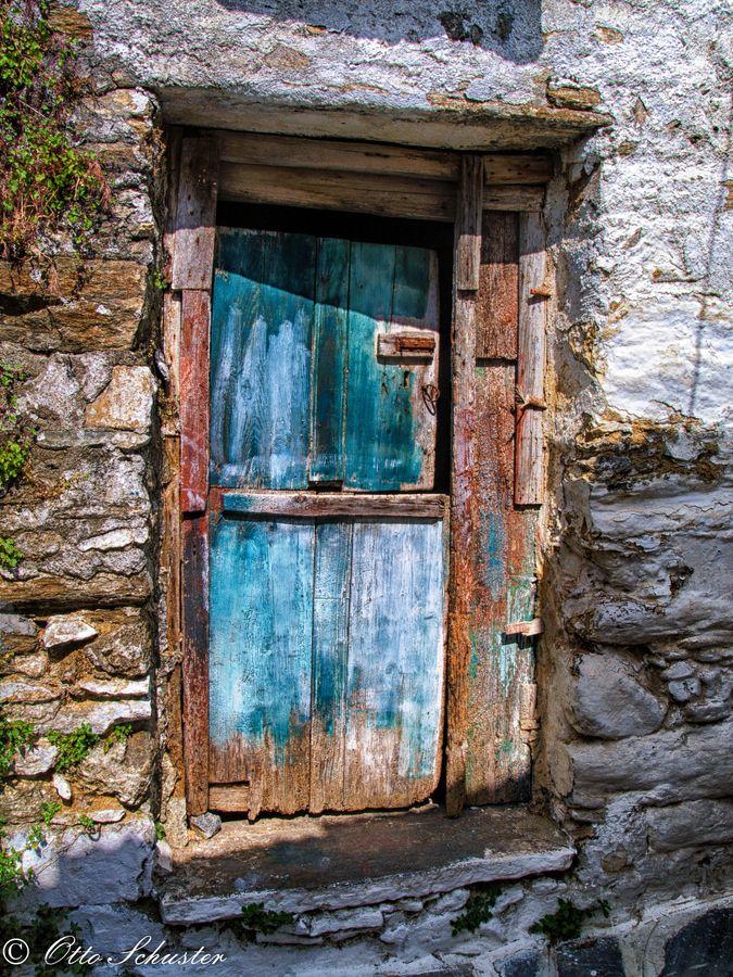 Door in #Naxos, Greece * kapılar Pinterest Portes, Portes - peinture porte et fenetre