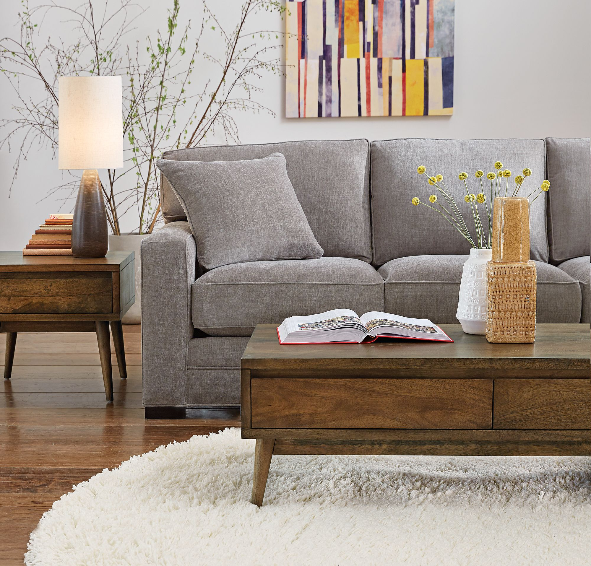 Keep It In Neutral With A Lovely Grey Sofa For Fall
