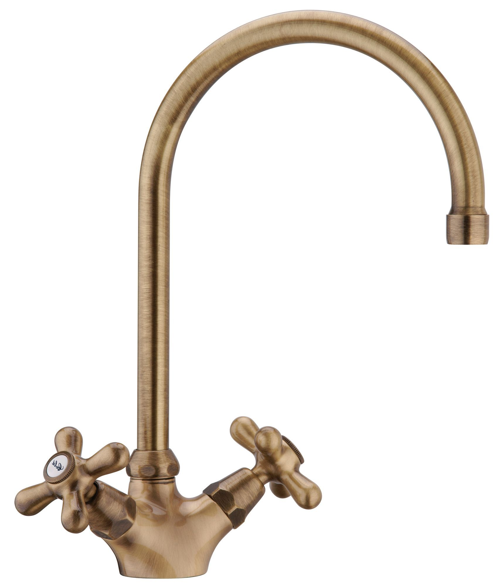 Newport Antique Brass Effect Monobloc Tap | Departments | DIY at ...