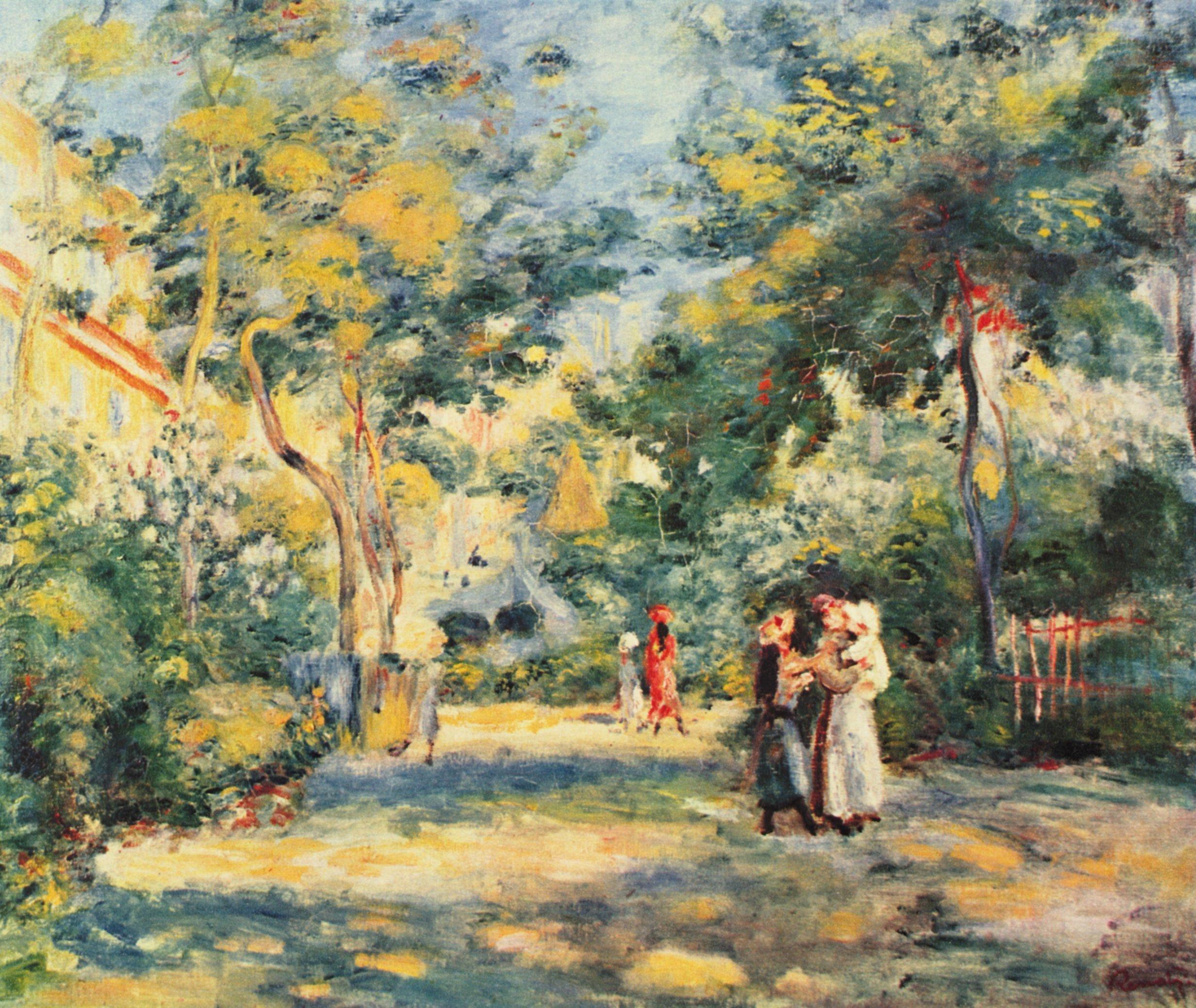 Renoir Figures In The Garden Giclee Art Reproduction On Pierre Auguste Renoir August Renoir Renoir