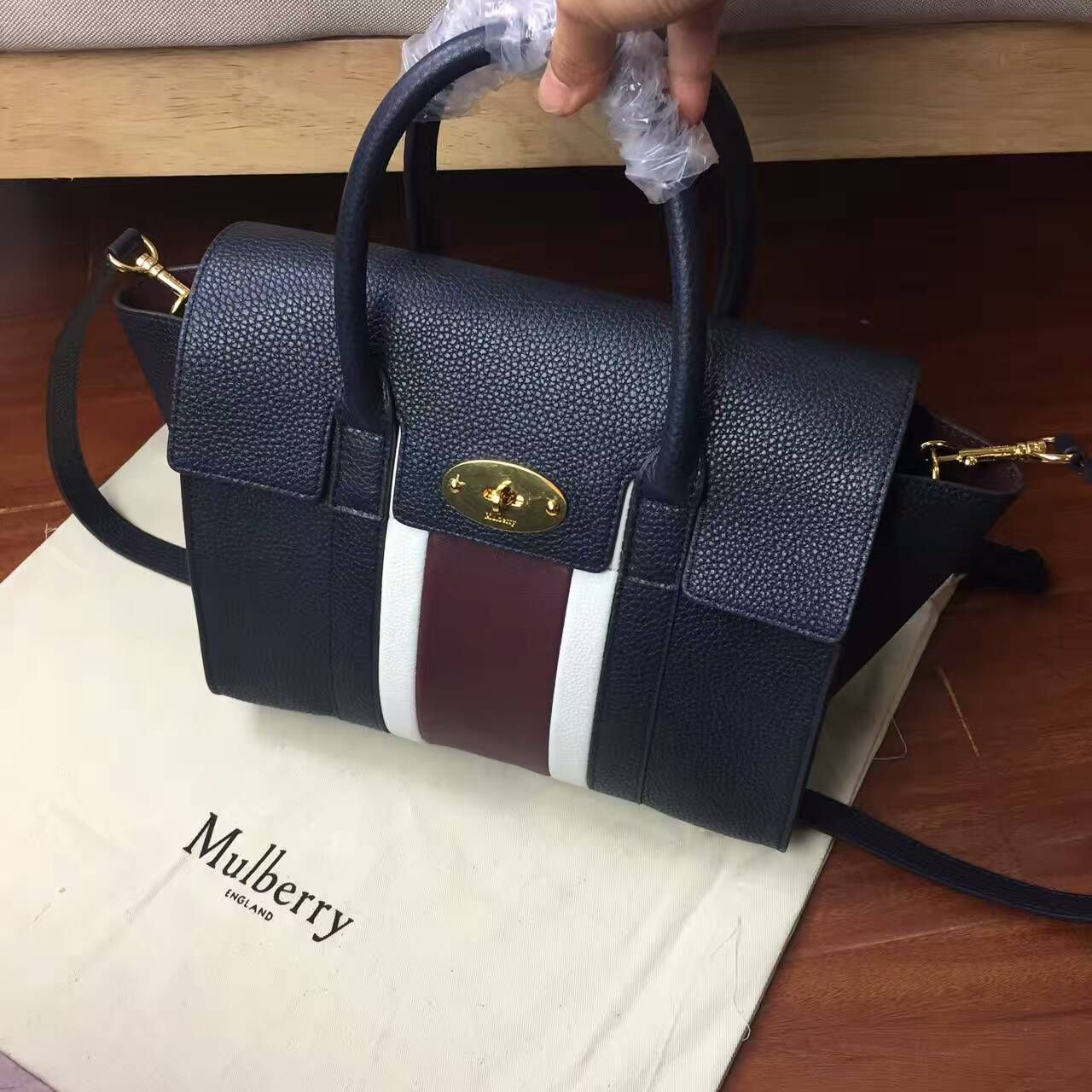 Mulberry Bayswater with Strap Midnight 2e2a967b8fd8c