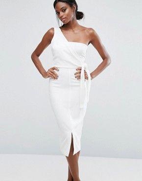 Asymmetric One Shoulder Dress - Pink Lavish Alice Rnyekj