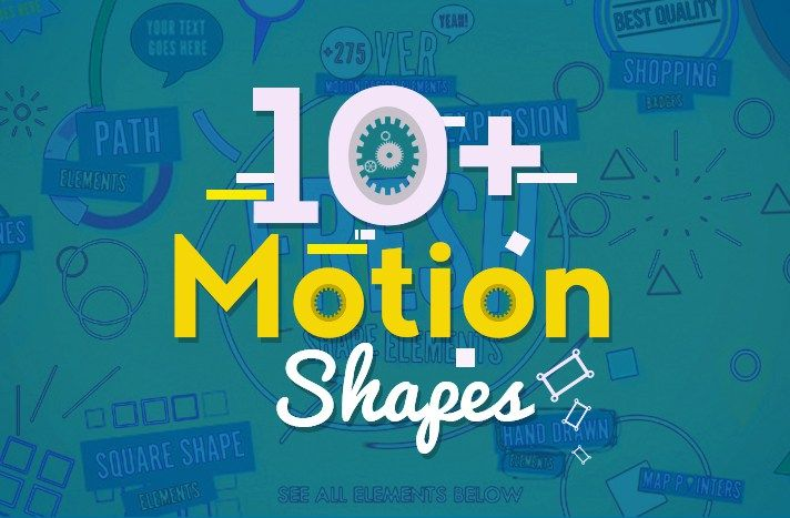10+ Free Motion Shapes After Effects Templates