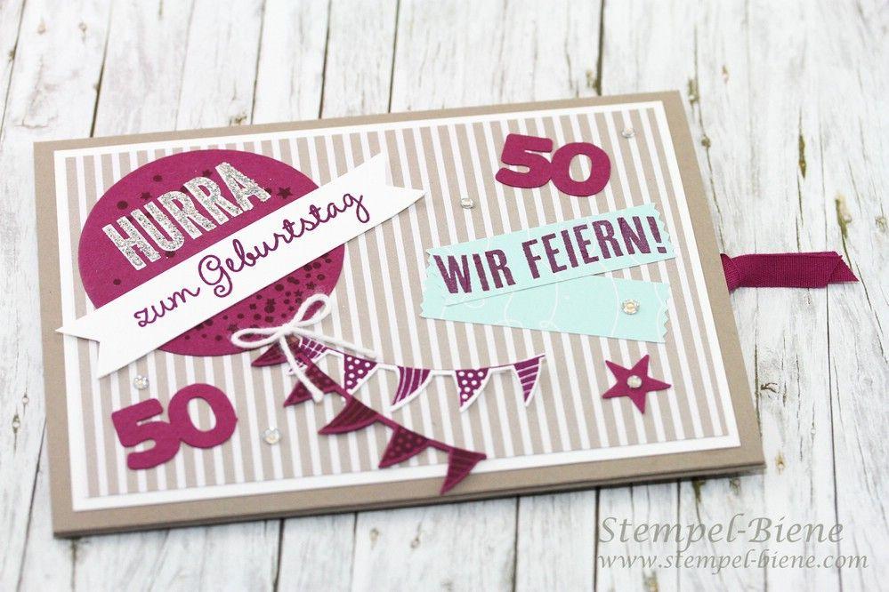 Ziehkarte Zum 50 Geburtstag Anleitung Ziehkarte Geburtstagskarte