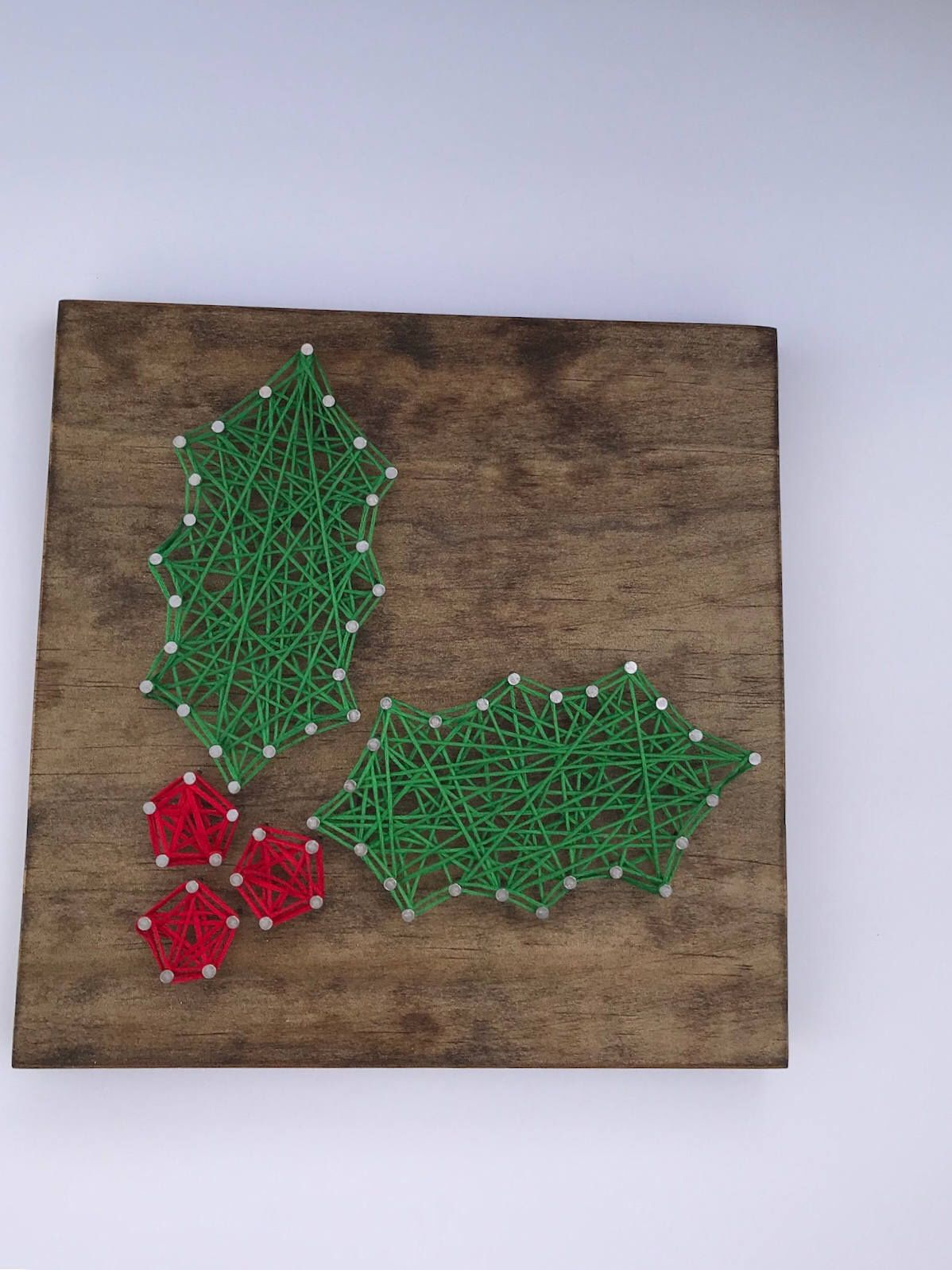 Holly String Art Sign - wooden sign - Christmas decoration - gift ...