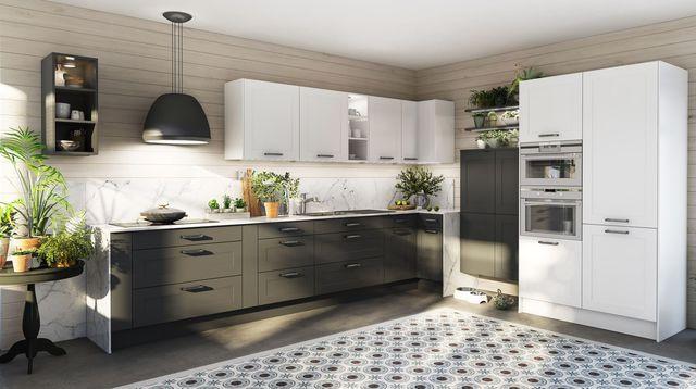 Aménagemer une cuisine ouverte, en longueur, pas cher, petite