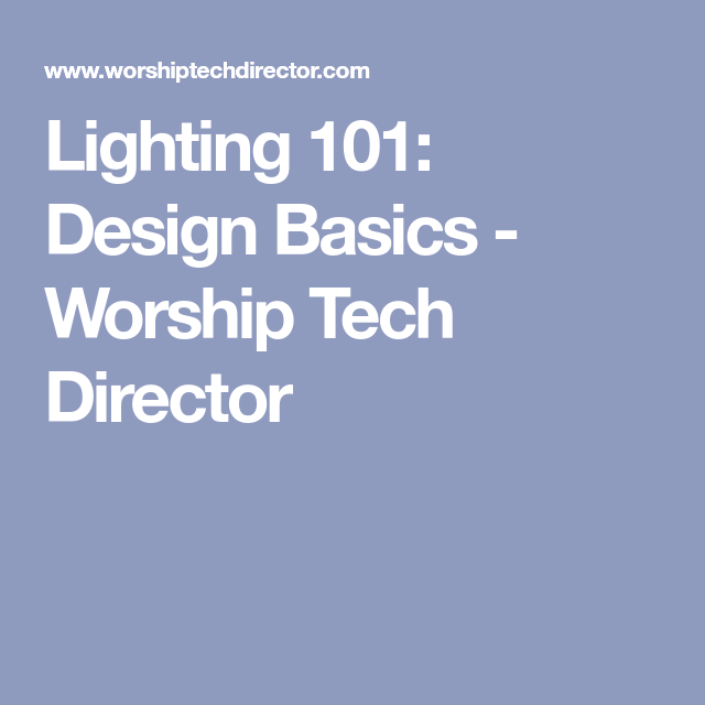 Duke DeJong Takes Us Through The Basics Of Light Design. Wondering How To  Set Up Your Stage Lighting Set?