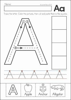alphabet letters to trace and cut printableletters org back to school preschool no prep worksheets amp activities 717
