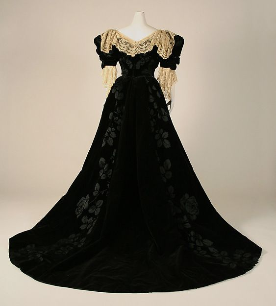 Dress, 1899, House of Worth, French, silk, lace