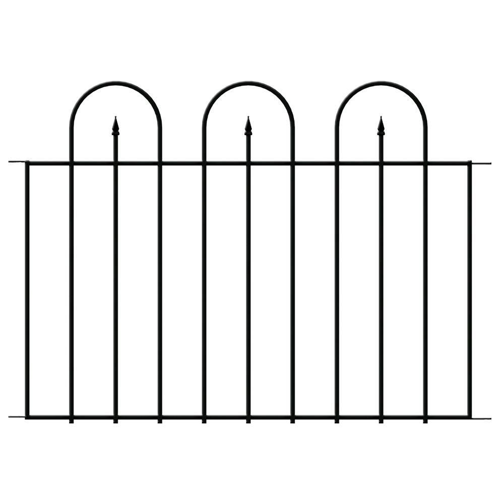 Hampton Bay Westbrook 36 In X 48 In Black Steel Fence