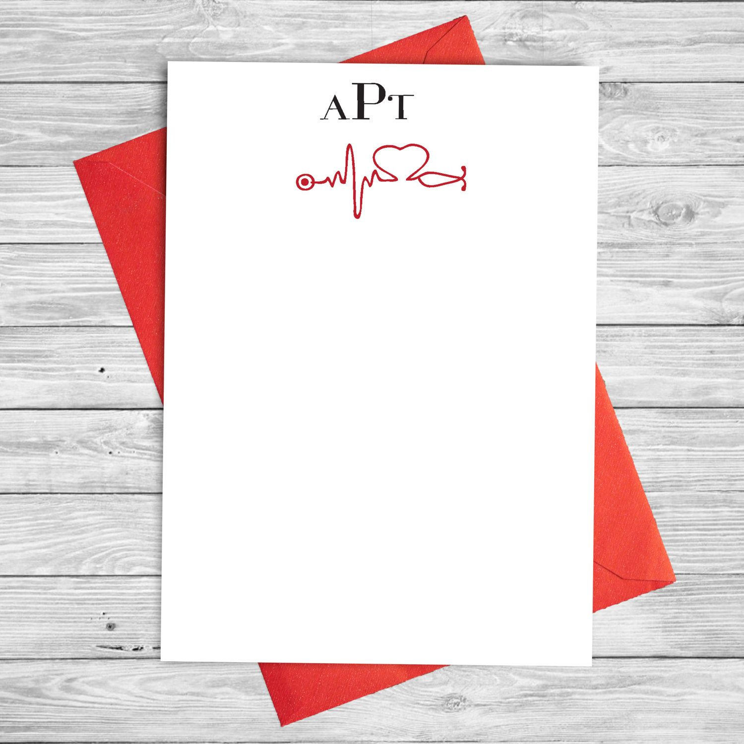 Personalized Medical Note Card Set  Nurse Gift  Medical Student