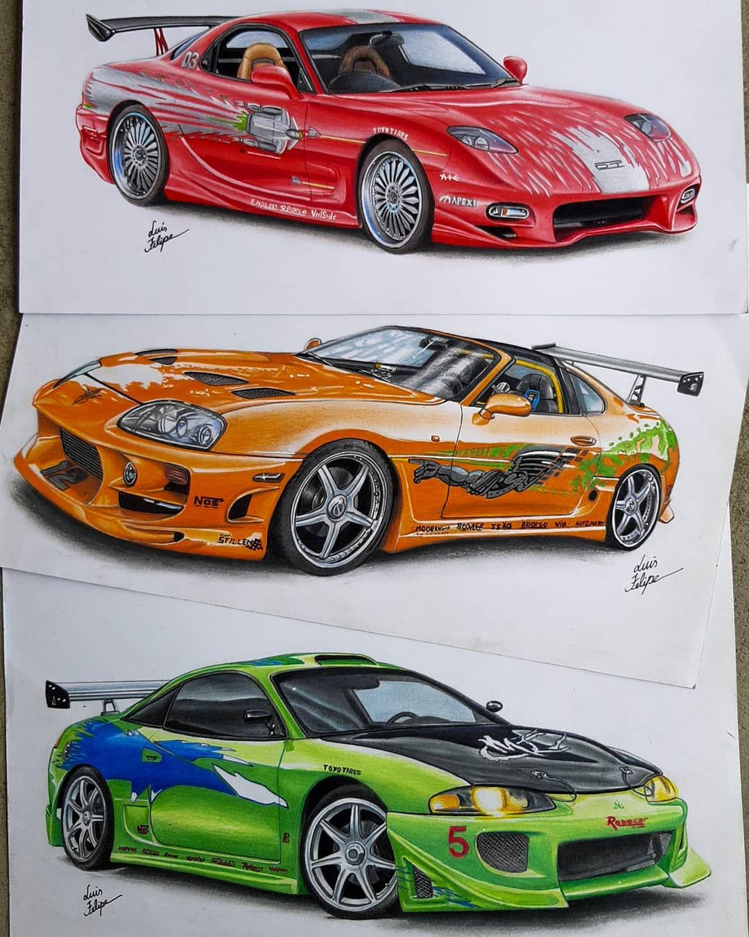 3 743 Curtidas 21 Comentarios Luis Felipe Desenhos Luisfelipeart No Instagram Which Would You Take Started M In 2020 Fast And Furious Gtr Car Super Cars