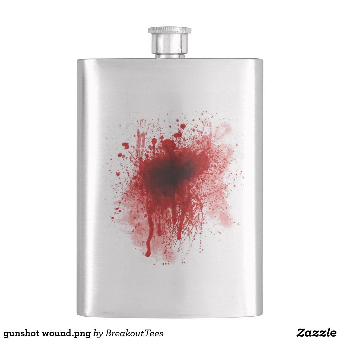 Gunshot Wound Png Flask Gunshot Art Decor