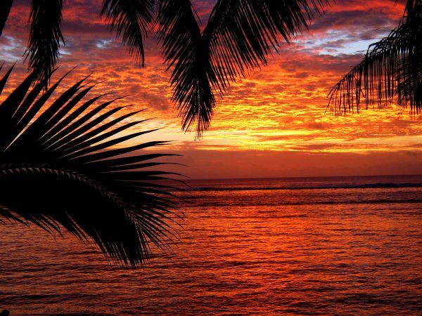 Rarotonga Sunset In 2019 Picture Places Cool Places To