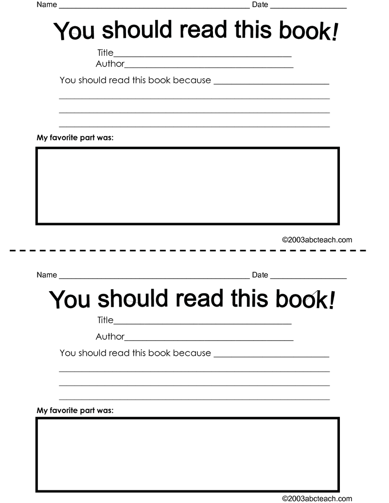 Page 1 - Book Recommendation Form.pdf | Teaching-Language Arts ...
