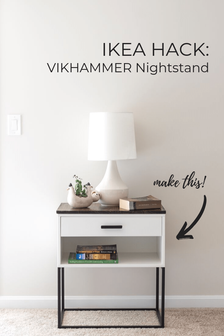 Photo of IKEA Hack: A VIKHAMMER Nightstand Makeover