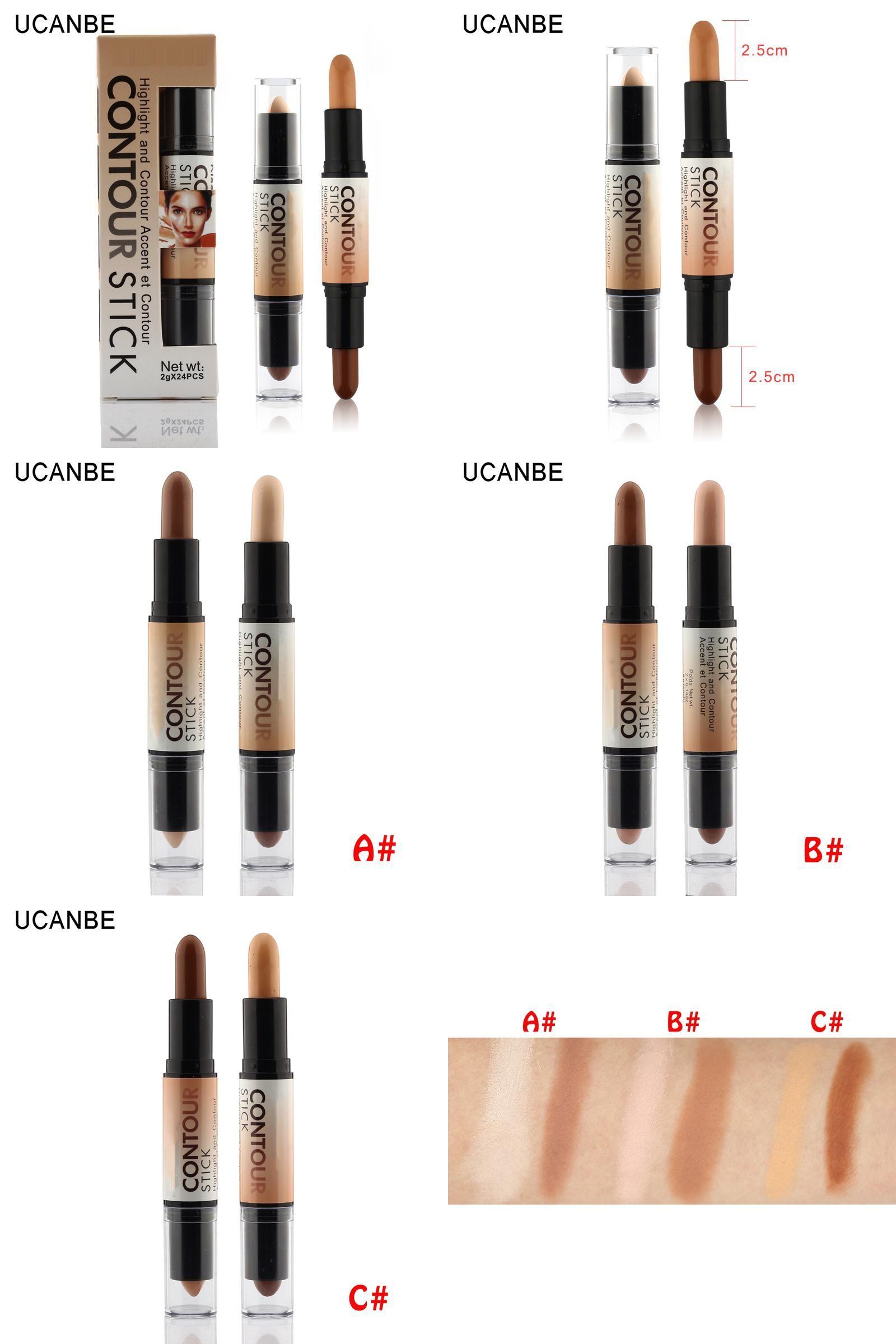 [Visit to Buy] Makeup Creamy Doubleended 2 in1 Contour